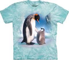 T Shirt With Short Sleeve Penguins On Iceberg