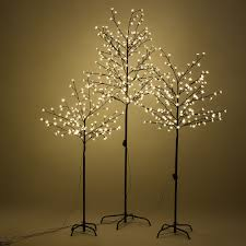 details about xmas cherry blossom led tree light floor lamp holiday decor warm white