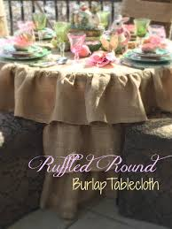 Table Cloth For Round Table Ruffled Round Burlap Tablecloth Tutorial Purple Chocolat Home