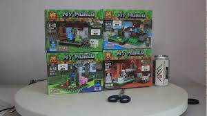 Mở hộp Lele 33000 Lego Minecraft MOC 4 in 1 giá sốc rẻ nhất - YouTube