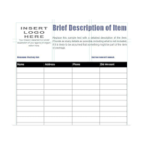 Sample Bid Sheets For Silent Auction 40 Silent Auction Bid Sheet Templates Word Excel Template Lab