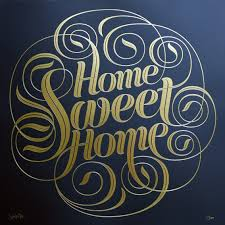 Small Picture Home Sweet Home Foil Block Print by Seb Lester Soma Gallery