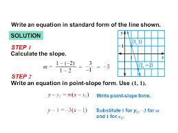 example 2 solution y y 1 m x x 1 calculate