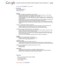 Good Google Resume Examples Best Sample Resume Template Ideas For