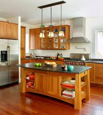 kitchen island table design with modern furniture and wooden counter top also ceramic wall