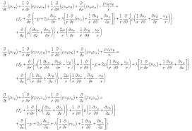 derivation of navier stokes equation in polar coordinates