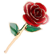 Mr Pro Authentic Long Stem Rose Dipped In 24k Gold Blue Mr Pro