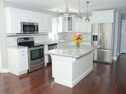 Impressive White Kitchens With Stainless Appliances Kitchen Colors Cabinets And Throughout Modern Design