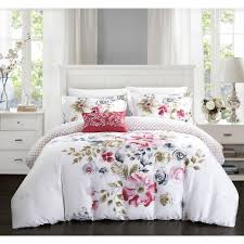 lovely fl duvet cover for your bedroom decor contemporary bedroom with white wood headboard queen