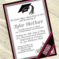 commencement invitations burgundy custom graduation invitation