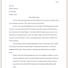 How To Format A College Paper Formatting Your Mla Paper Mla Style Guide 8th Edition