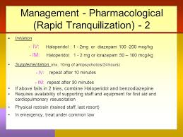 Rapid Tranquillisation Flow Chart Pharmacotherapy In Children With Learning Disability Dr