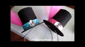 how to make a mini top hat tutorial diy alice in wonderland mad hatter you