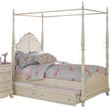 Homelegance Cinderella Canopy White Canopy Bed Full New Full Size ...