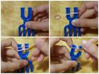 Плетение из резиночек браслет на рогатке схемы