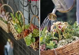 As cestas feitas em rattan são itens que agradam visualmente e são fáceis de usar na decoração. Suculentas Em Cestas 12 Ideias Lindas Como Fazer Em Casa