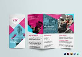 Gym Brochure Gym Trifold Brochure Design Template In PSD Word Publisher 4