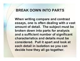 compare and contrast essay by anne garett 9