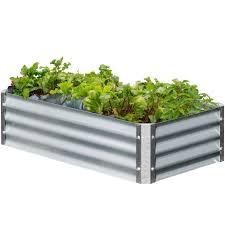 galvanized steel garden beds safe. Exellent Galvanized EarthMark Bajo Series 22 In X 40 10 Rectangle Galvanized Throughout Steel Garden Beds Safe A