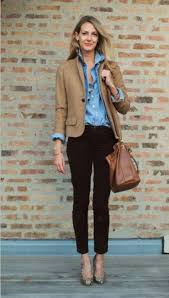 Light Blue Work Pants Outfit Colors That Complement Brown Pieces Casual Work Outfits
