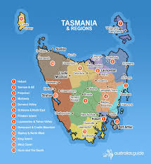 map of tasmania  tasmania  australia's guide