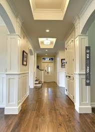 light hardwood flooring types. Simple Types Columns Wrapped Around The Wall Could Do Easily And Nicely Here Farinelli  Construction Inc  Traditional Hall Other Metro And Light Hardwood Flooring Types