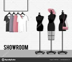 Mannequin Coat Rack Vector illustration with showroom Stock Vector © alinabel 100 36