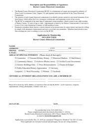Application For Membership Membership Application Burnet Co Hist Comm