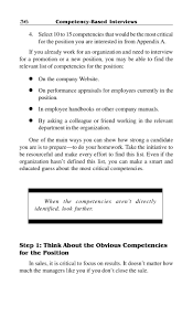 competency based interview 37 identify key competencies
