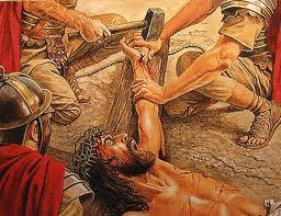Image result for picture of Christ nailed to the cross