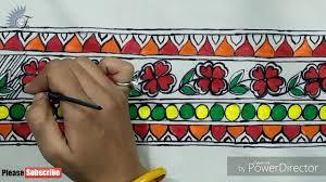 Mithila Painting Bed Sheet Design