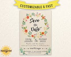 Printable Save The Date Template Save The Date Printable
