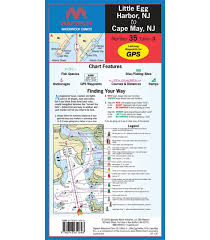 Waterproof Charts Maptech Little Egg Harbor Nj To Cape May Nj Waterproof Chart 3rd Edition 2018