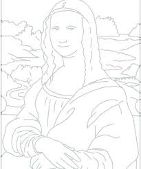 Coloring Page Basic And Mona Lisa Pages Printable Ryanbreauxco