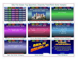 Tag Questions Jeopardy Powerpoint Game Esl Fun Games