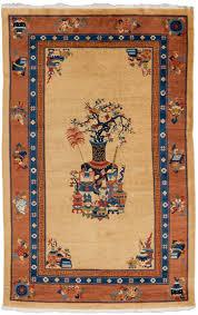 vintage chinese vase rug