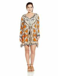 Angie Womens Juniors Plus Size Spice Printed Bell Sleeve Dress Ebay