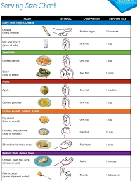 Food Portion Size Chart Portion Control Chart In 2019 Food Portion Sizes Portion