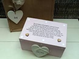 mother of the bride gift to her daughter shabby personalised chic on wedding day from