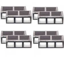 Solar Powered Outdoor Lights For Steps Amazon Com Lot Of 8 Solar Powered Led Outdoor Lights For