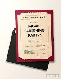 Movie Night Invitation Template Free Movie Party Invitations Templates Movie Party Invitation Template