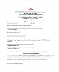 Student Agreement Contract 10+ Project Contract Templates - Sample, Examples | Free & Premium ...