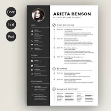 Modern Minimalist Resume Free Template Minimalist Resume Template Docx Resume And Cover Docx Template