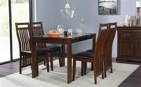dark wood furniture. Wonderful Wood Tate 120cm Dark Wood And Glass Dining Table  With 4 Java Chairs Brown Seat Inside Furniture U