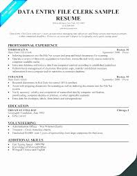 Data Entry Resume Cool Data Entry Experience Resume Sample Best Data Entry Resume Data