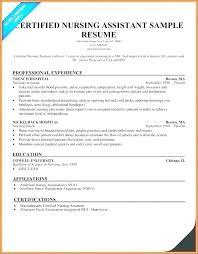 Cna Sample Resume Inspiration Cna Sample Resume Resume Samples Luxury Free Sample Certified