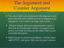 argumentative essay 7 the argument