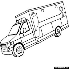 Small Picture Ambulance Coloring Page Kids Pinterest Ambulance Craft