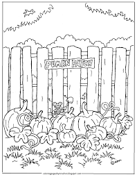 Small Picture Coloring Pages for Kids by Mr Adron Pumpkin Patch Printable