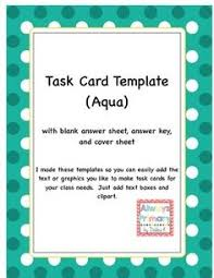 Free Card Templates 18 Best Free Task Card Templates Images Classroom Organization